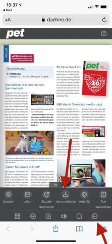 pet E-Magazin Bedienung