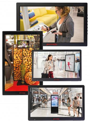 Permaplay, vernetzte Bildschirme, zentrale Software
