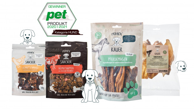 STROETMANN Tiernahrung, Primox Kauer, Snacker, pet Produkt des Jahres, Heimathäppchen