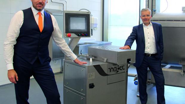 Hans Heppner (rechts) und Harald Suchanka, Geschäftsführer Füll-/Portioniersysteme bei Handtmann, leiten das Unternehmen.