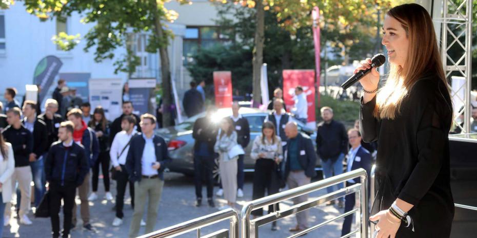 Zukunftstüftler-Kongress Karlsruhe, Moderatorin Hannah Boomgaarden