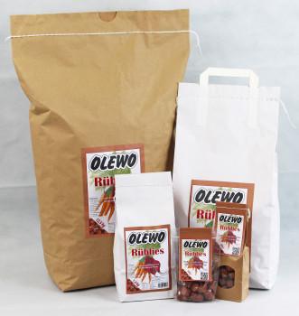 """Vegetarische Leckerlies, Olewo-""""Rüblies, Olewo"""