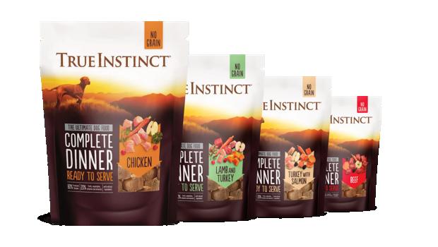 Complete Dinners, True Instinct, Gefriergetrocknete Komplettmahlzeiten, Natures Menu