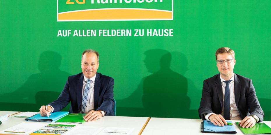 ZG-Raiffeisen, Vorstände Lukas Roßhart (links) und Holger Löbbert