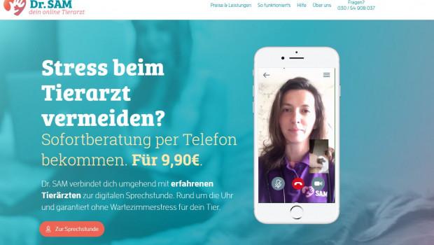 """Schnelle und unkomplizierte Erstberatung verspricht """"Dr. Sam"""" (Screenshot)."""