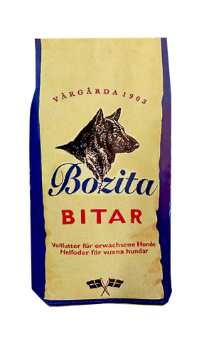 """Aus dem ersten Trockenfutter """"Bozita Bitar"""" wurde das heutige """"Bozita Original""""."""