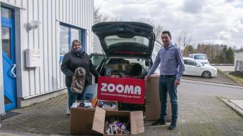 Zooma-Zookauf-Gruppe spendet Zubehör und Snacks