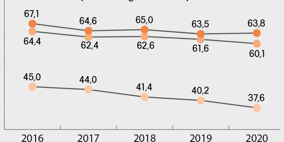 Marktanteile Heimtier Gesamt (nach Menge, in Prozent), Quelle: PLMA Jahrbuch 2021