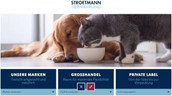 Stroetmann Tiernahrung mit eigener Website