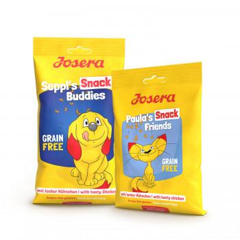 Josera, Snacks für Hunde und Katzen, Seppl's Snack Buddies, Paula's Snack Friends